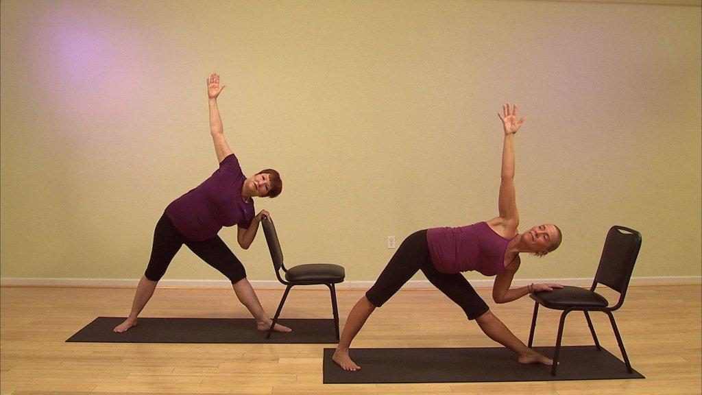 Chair yoga at core yoga class on tuesday at grandview for Furniture yoga